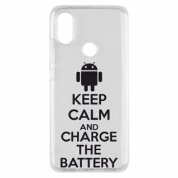 Чехол для Xiaomi Mi A2 KEEP CALM and CHARGE BATTERY - FatLine