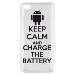 Чехол для Xiaomi Mi 5s KEEP CALM and CHARGE BATTERY - FatLine