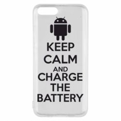 Чехол для Xiaomi Mi6 KEEP CALM and CHARGE BATTERY - FatLine