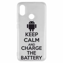 Чехол для Xiaomi Mi8 KEEP CALM and CHARGE BATTERY - FatLine