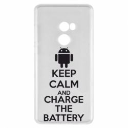 Чехол для Xiaomi Mi Mix 2 KEEP CALM and CHARGE BATTERY - FatLine