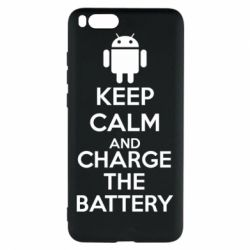 Чехол для Xiaomi Mi Note 3 KEEP CALM and CHARGE BATTERY - FatLine