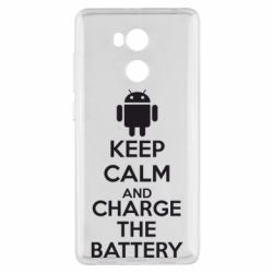 Чехол для Xiaomi Redmi 4 Pro/Prime KEEP CALM and CHARGE BATTERY - FatLine