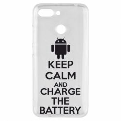 Чехол для Xiaomi Redmi 6 KEEP CALM and CHARGE BATTERY - FatLine
