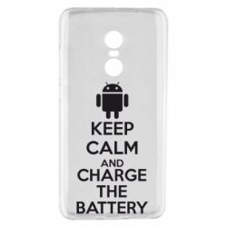 Чехол для Xiaomi Redmi Note 4 KEEP CALM and CHARGE BATTERY - FatLine