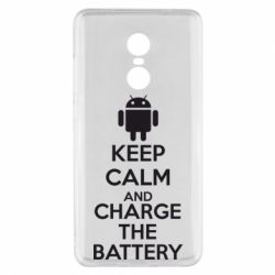 Чехол для Xiaomi Redmi Note 4x KEEP CALM and CHARGE BATTERY - FatLine