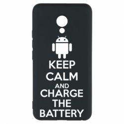 Чехол для Meizu M5 KEEP CALM and CHARGE BATTERY - FatLine