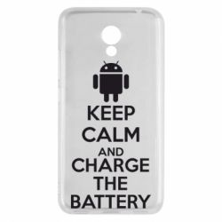 Чехол для Meizu M5c KEEP CALM and CHARGE BATTERY - FatLine