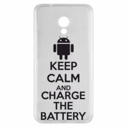 Чехол для Meizu M5s KEEP CALM and CHARGE BATTERY - FatLine