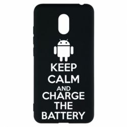 Чехол для Meizu M6 KEEP CALM and CHARGE BATTERY - FatLine