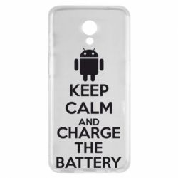 Чехол для Meizu M6s KEEP CALM and CHARGE BATTERY - FatLine