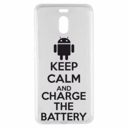 Чехол для Meizu M6 Note KEEP CALM and CHARGE BATTERY - FatLine