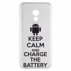 Чехол для Meizu Pro 6 KEEP CALM and CHARGE BATTERY - FatLine