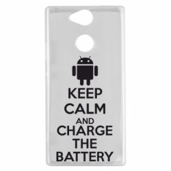 Чехол для Sony Xperia XA2 KEEP CALM and CHARGE BATTERY - FatLine