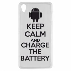 Чехол для Sony Xperia Z3 KEEP CALM and CHARGE BATTERY - FatLine