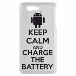 Чехол для Sony Xperia Z3 mini KEEP CALM and CHARGE BATTERY - FatLine