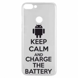 Чехол для Huawei P Smart KEEP CALM and CHARGE BATTERY - FatLine