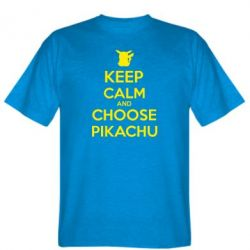 Мужская футболка Keep Calm and Choose Pikachu - FatLine