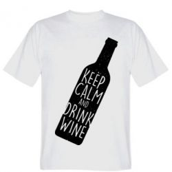 Футболка Keep Calm and drink wine