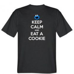 Мужская футболка Keep Calm and Eat a cookie - FatLine