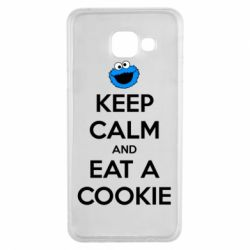 Чехол для Samsung A3 2016 Keep Calm and Eat a cookie