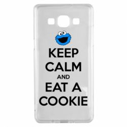 Чехол для Samsung A5 2015 Keep Calm and Eat a cookie
