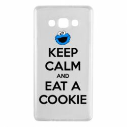 Чехол для Samsung A7 2015 Keep Calm and Eat a cookie