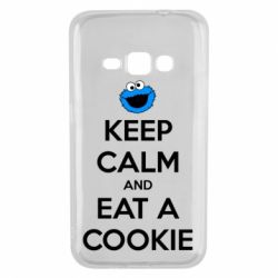 Чехол для Samsung J1 2016 Keep Calm and Eat a cookie
