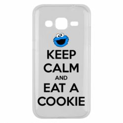 Чехол для Samsung J2 2015 Keep Calm and Eat a cookie