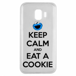 Чехол для Samsung J2 2018 Keep Calm and Eat a cookie