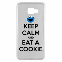 Чехол для Samsung A7 2016 Keep Calm and Eat a cookie