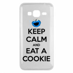 Чехол для Samsung J3 2016 Keep Calm and Eat a cookie
