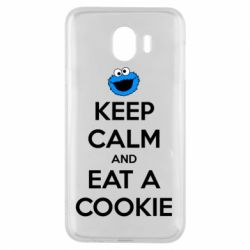 Чехол для Samsung J4 Keep Calm and Eat a cookie