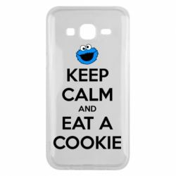 Чехол для Samsung J5 2015 Keep Calm and Eat a cookie