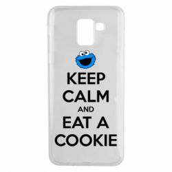 Чехол для Samsung J6 Keep Calm and Eat a cookie