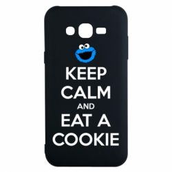 Чехол для Samsung J7 2015 Keep Calm and Eat a cookie