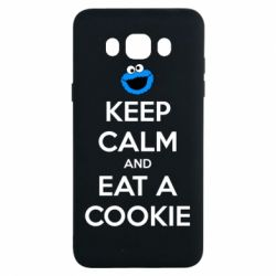 Чехол для Samsung J7 2016 Keep Calm and Eat a cookie