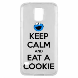 Чехол для Samsung S5 Keep Calm and Eat a cookie
