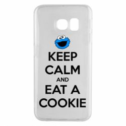 Чехол для Samsung S6 EDGE Keep Calm and Eat a cookie