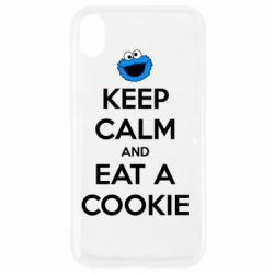 Чехол для iPhone XR Keep Calm and Eat a cookie