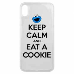 Чехол для iPhone Xs Max Keep Calm and Eat a cookie