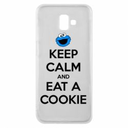 Чехол для Samsung J6 Plus 2018 Keep Calm and Eat a cookie