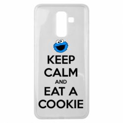 Чехол для Samsung J8 2018 Keep Calm and Eat a cookie