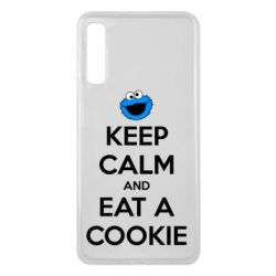 Чехол для Samsung A7 2018 Keep Calm and Eat a cookie