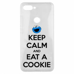 Чехол для Xiaomi Mi8 Lite Keep Calm and Eat a cookie