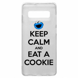 Чехол для Samsung S10+ Keep Calm and Eat a cookie