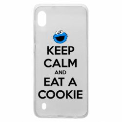 Чехол для Samsung A10 Keep Calm and Eat a cookie
