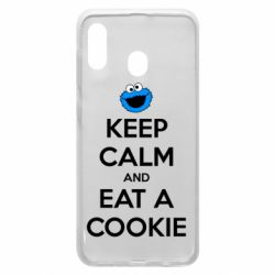 Чехол для Samsung A20 Keep Calm and Eat a cookie