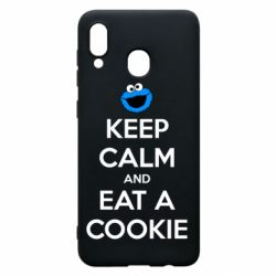 Чехол для Samsung A30 Keep Calm and Eat a cookie