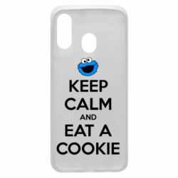 Чехол для Samsung A40 Keep Calm and Eat a cookie